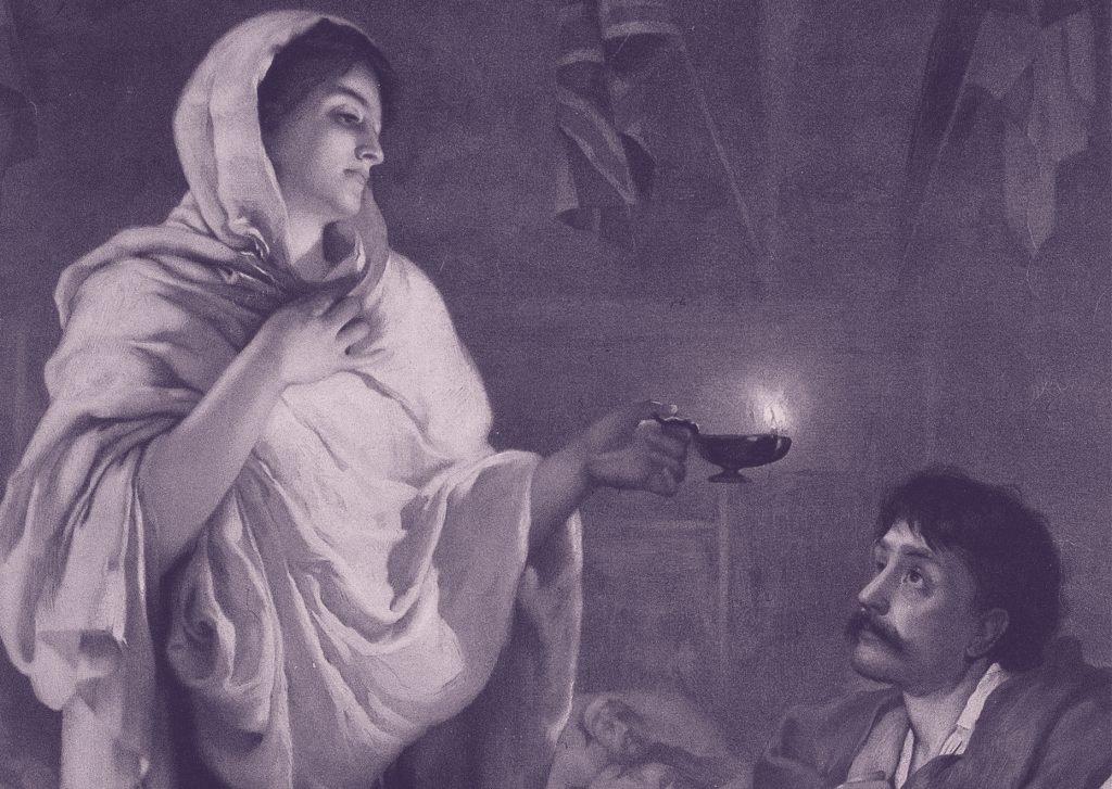 Florence Nightingale representada como la Dama de la lámpara por Henrietta Rae