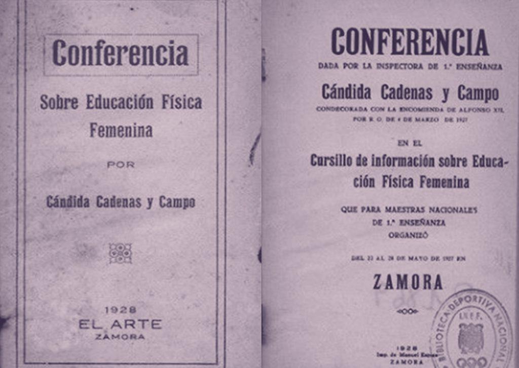 Carteles de conferencias ofrecidas por Cándida Cadenas